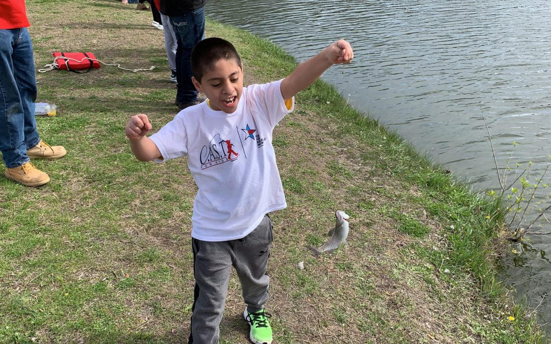 Miller Park Pond C A S T  for Kids Presented by Texas Farm